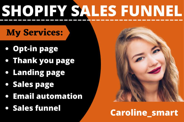 I will do shopify sales funnel, clickfunnels sales funnel, shopify promotion, FiverrBox