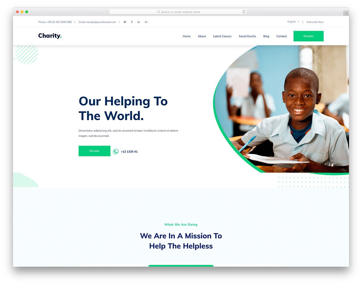 I will design charity home website for fundraising in 24 hour, FiverrBox