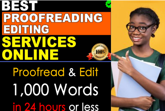 I will proofread and edit your writing or documents in 24 hours, FiverrBox