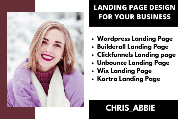 I will build wordpress, kartra, builderall, clickfunnels, wix, unbounce landing page, FiverrBox