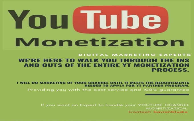 I will do organic promotion for youtube channel monetization, FiverrBox