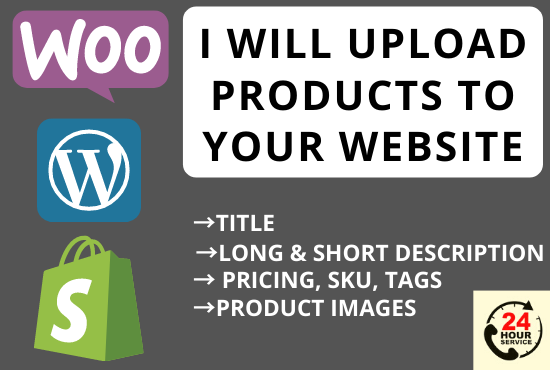 I will upload or add products to your woocommerce and shopify store, FiverrBox