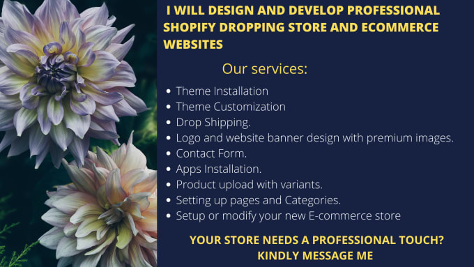 I will design profitable shopify dropshipping store, wix website redesign, marketing, FiverrBox