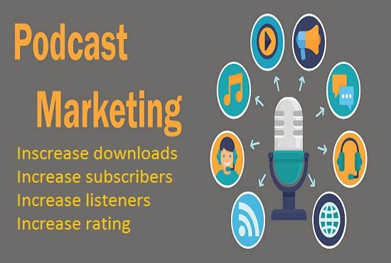 I will do organic podcast marketing, advertise podcast worldwide, FiverrBox