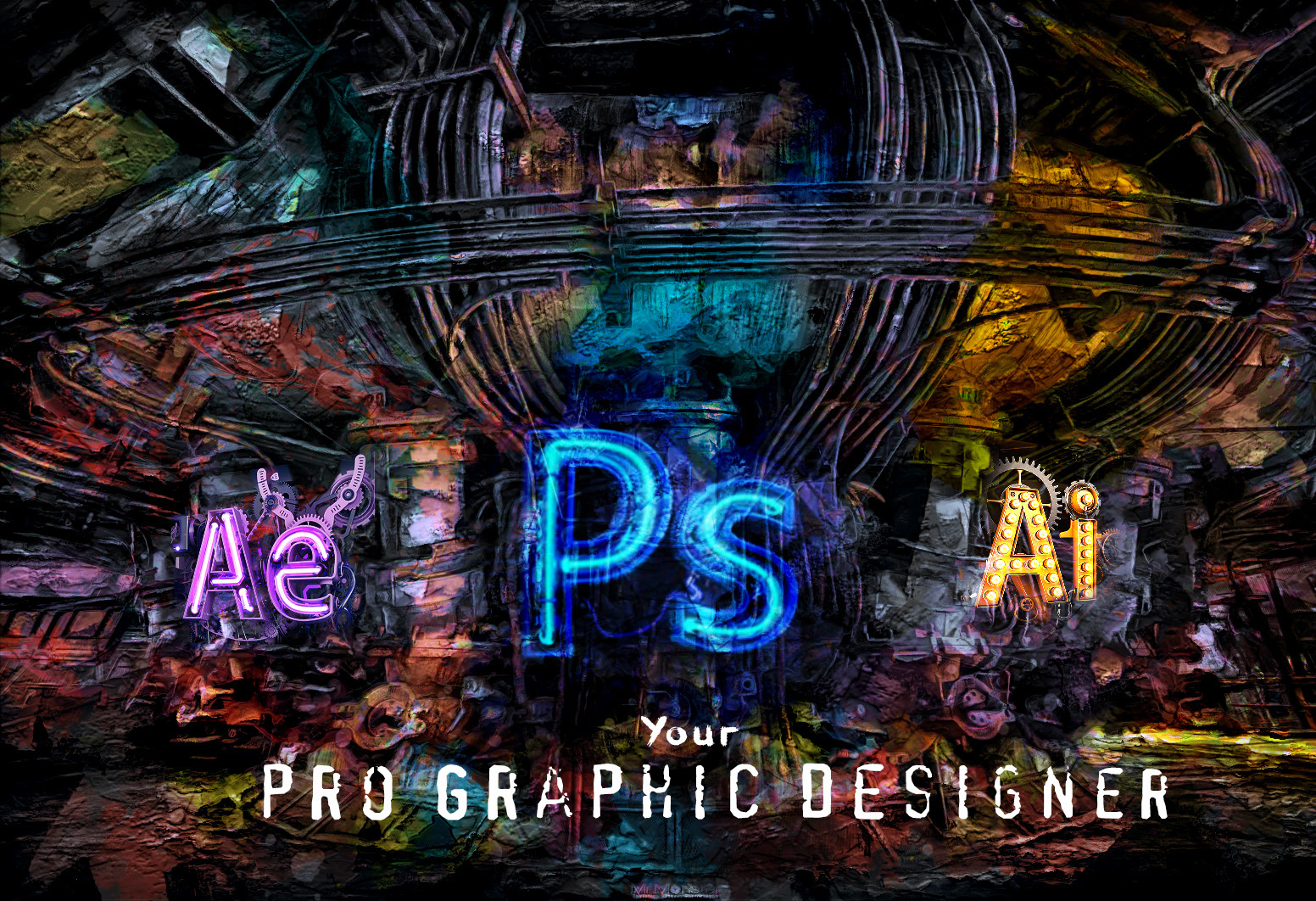 I will be your photoshop designer and graphic illustrator, FiverrBox