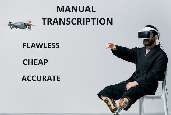 I will provide quality transcription for any english audio or, FiverrBox