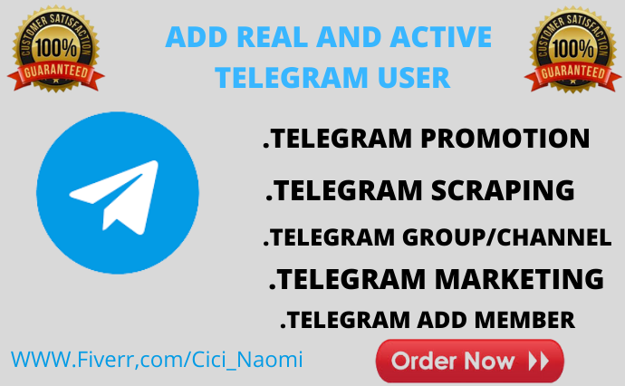 I will promote your telegram to real and active audience, FiverrBox
