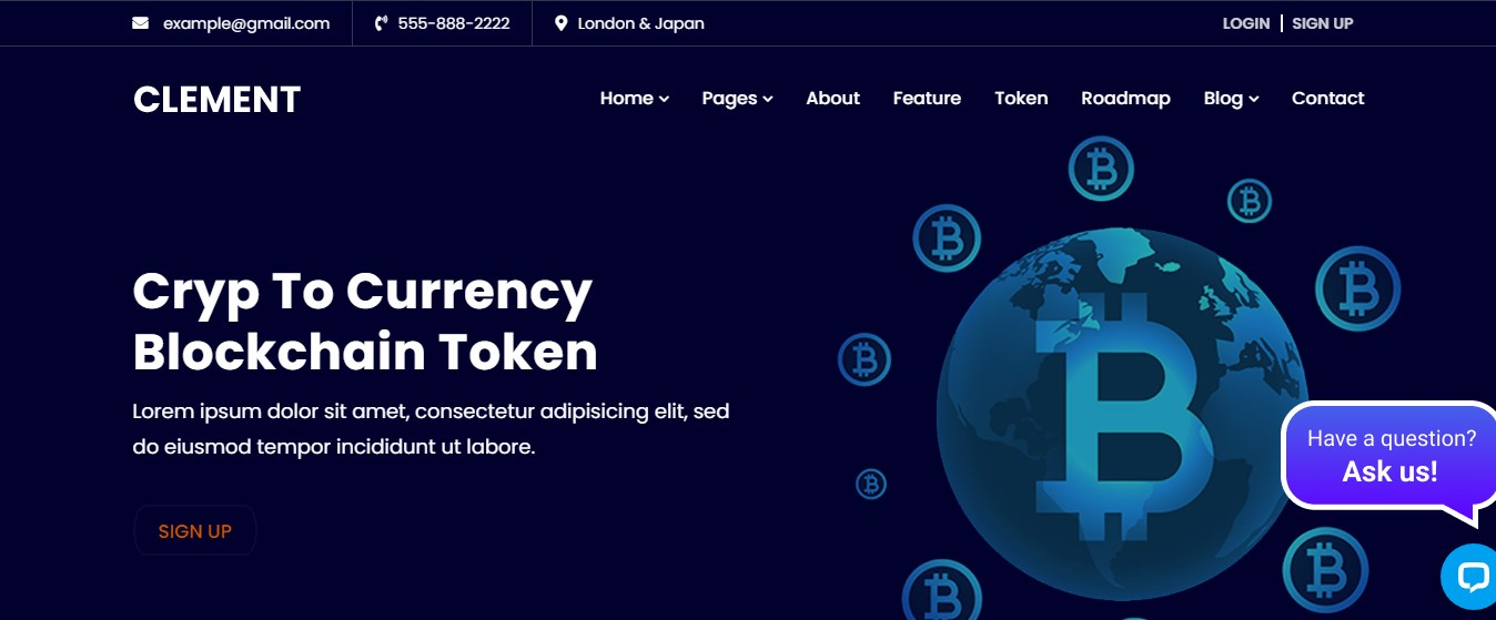 I will create captivating cryptocurrency website or ico website, FiverrBox