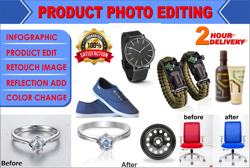 I will do product photo editing for amazon, ebay, FiverrBox