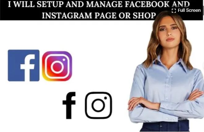 I will setup and manage facebook and instagram page or shop, FiverrBox