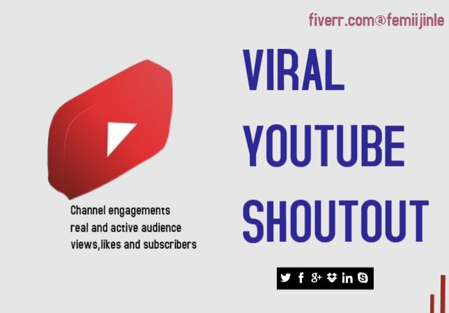 do youtube shoutout to real and active audience to boost subscribers, FiverrBox
