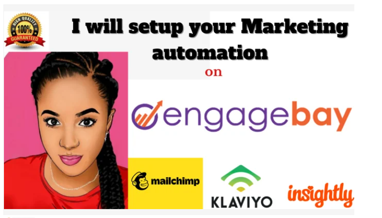I will setup automation, email marketing, landing page, email sequence, on engagebay, FiverrBox