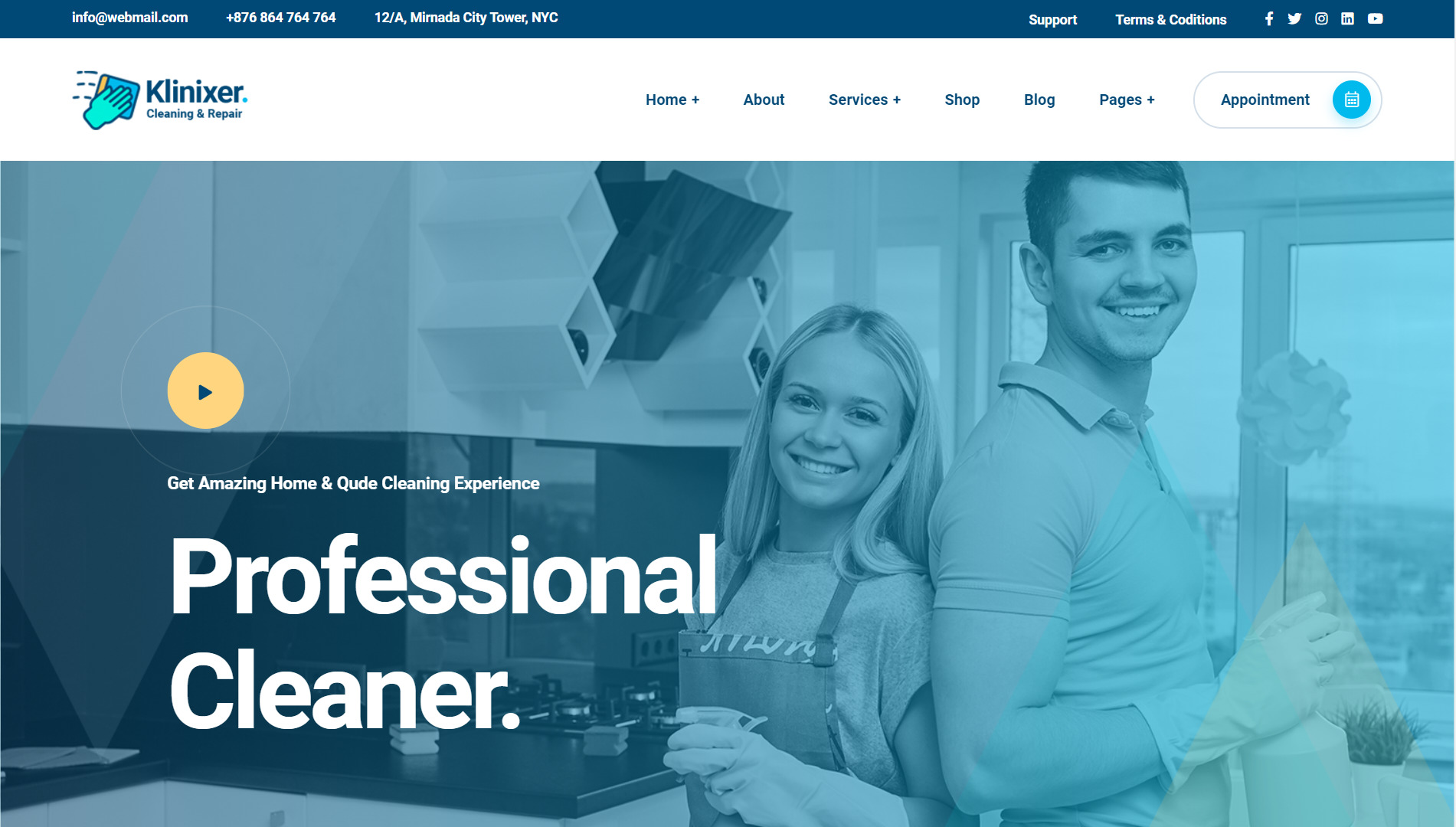 I will create cleaning business website for cleaning company with booking appointment, FiverrBox