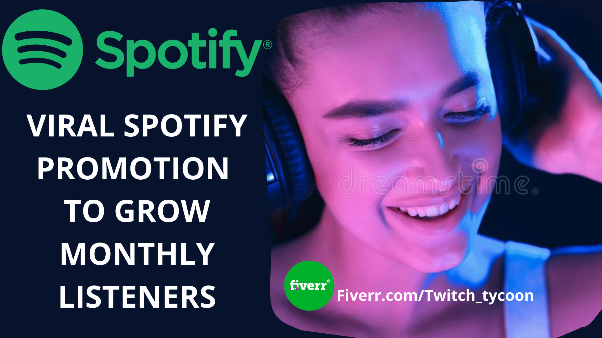 I will do organic spotify promotion to grow your monthly listeners, FiverrBox