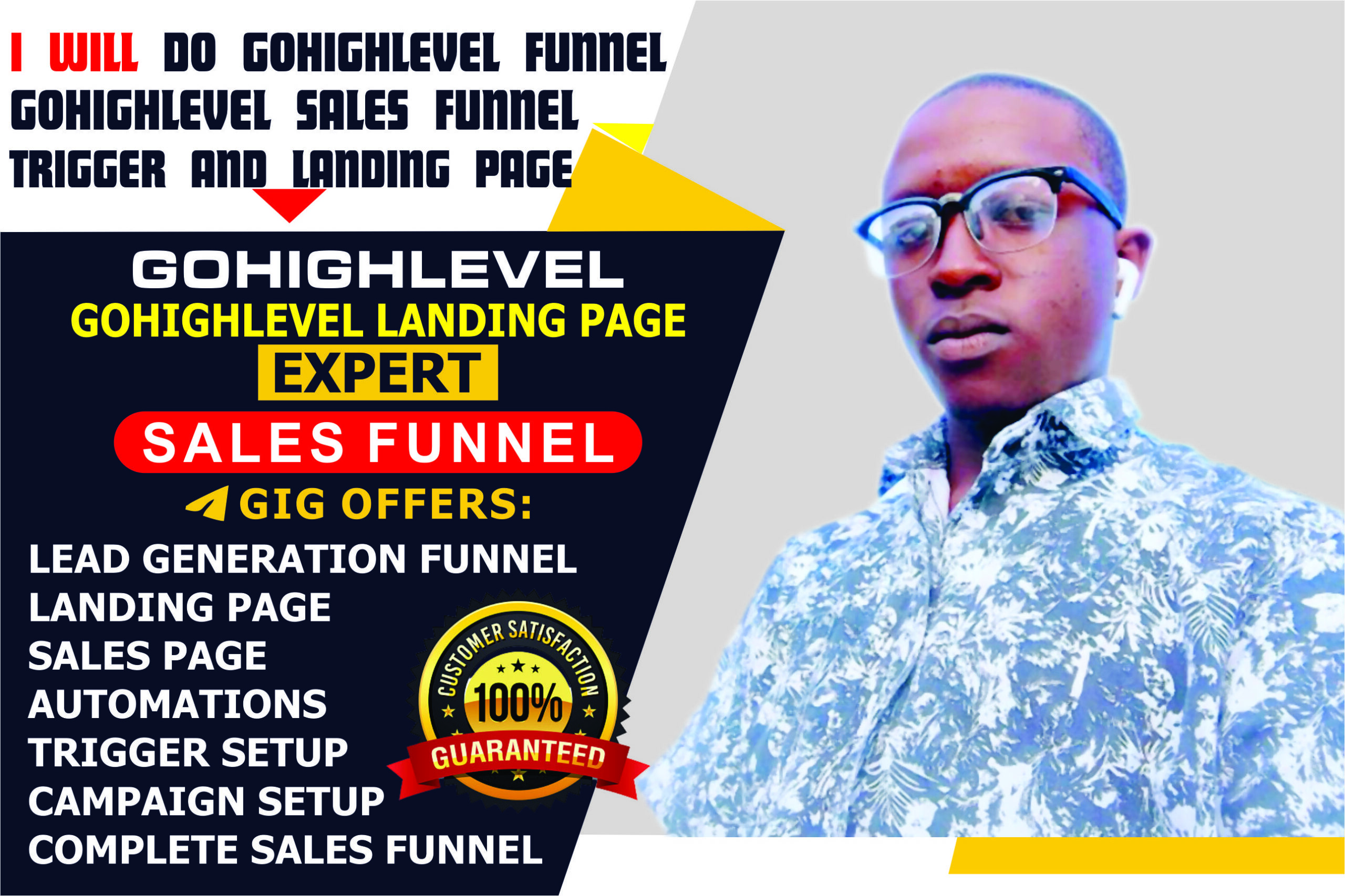 I will build gohighlevel sales funnel, gohighlevel sales funnel, highlevel landing page, FiverrBox