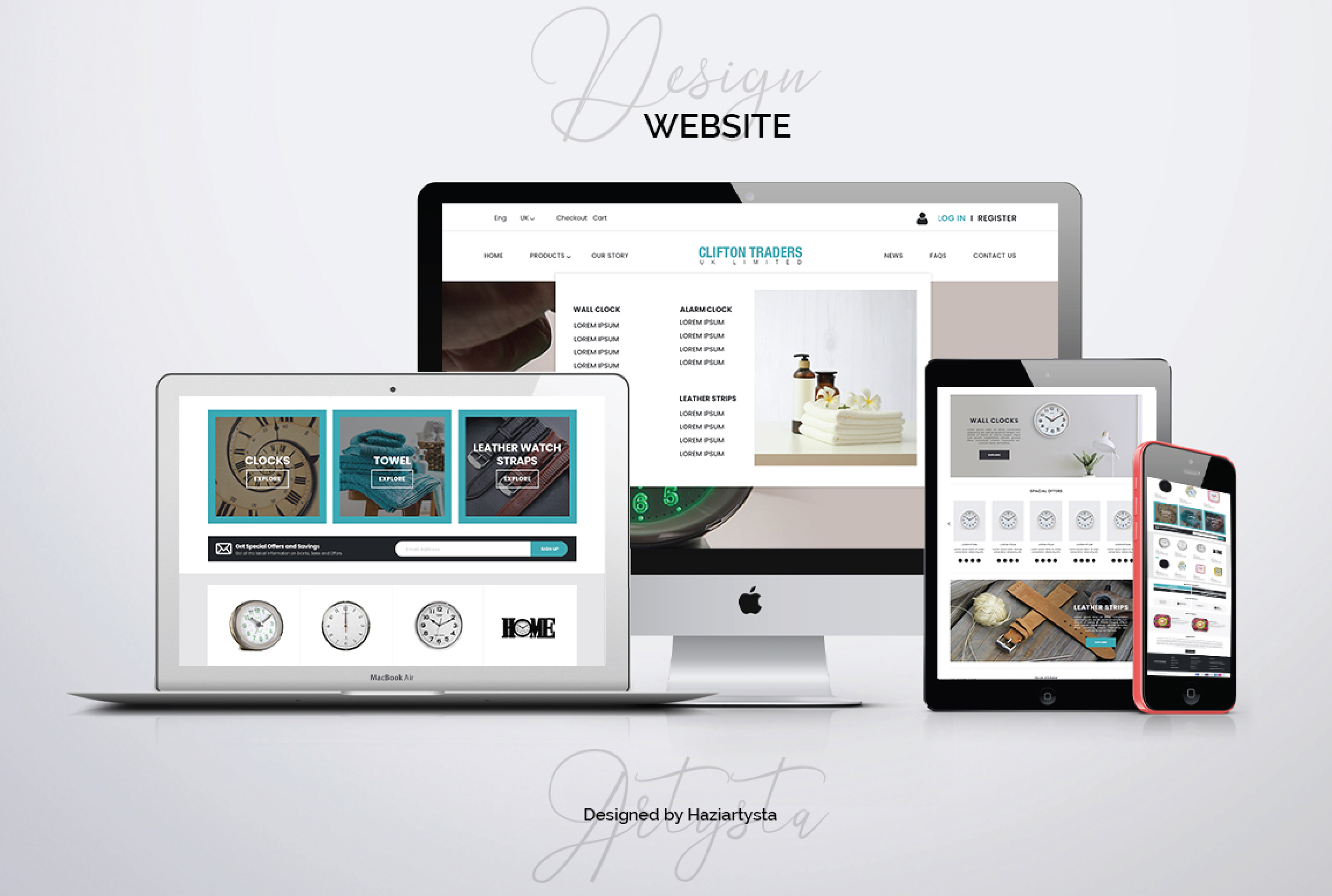 I will design unique landing page or home page for your website, FiverrBox