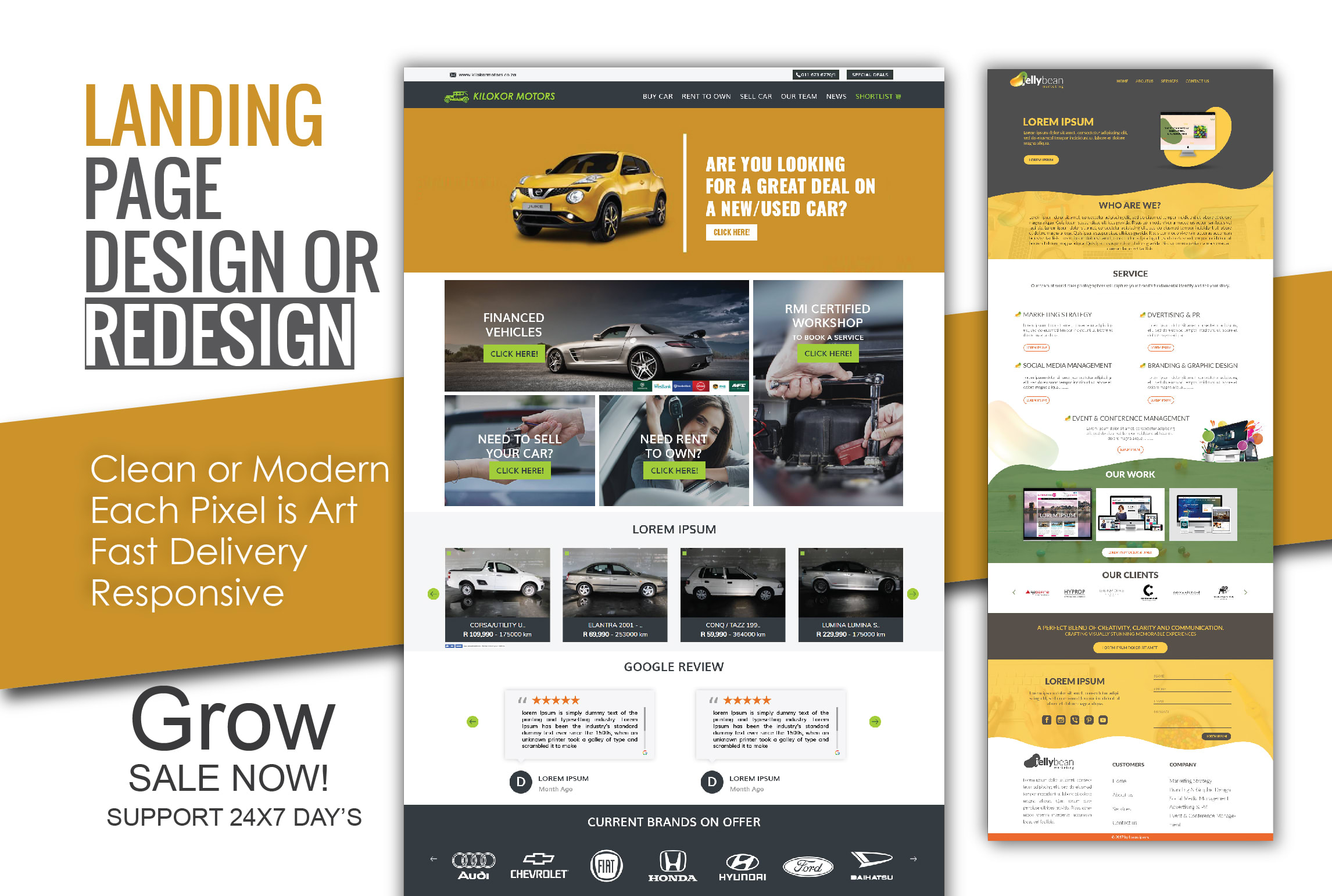 I will do professional and modern landing page design or redesign of, FiverrBox