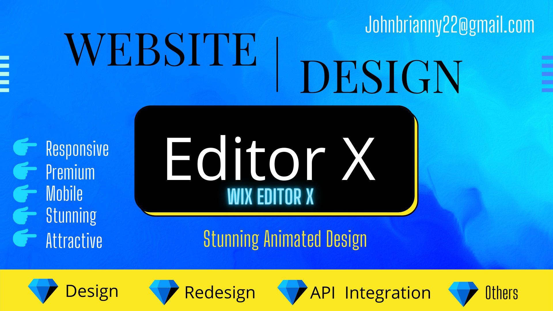 I will design stunning animated wix website or wix editor x website, FiverrBox