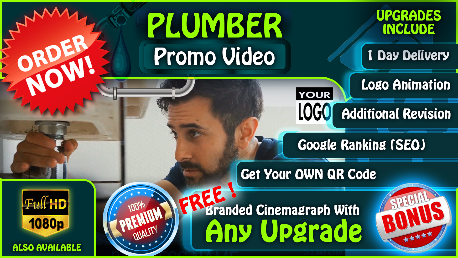 I will create this plumber spokesperson video, FiverrBox