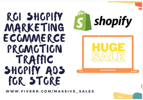I will roi shopify marketing ecommerce promotion traffic shopify ads, FiverrBox