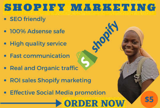 I will do shopify marketing, promotion to drive traffic and sales, FiverrBox