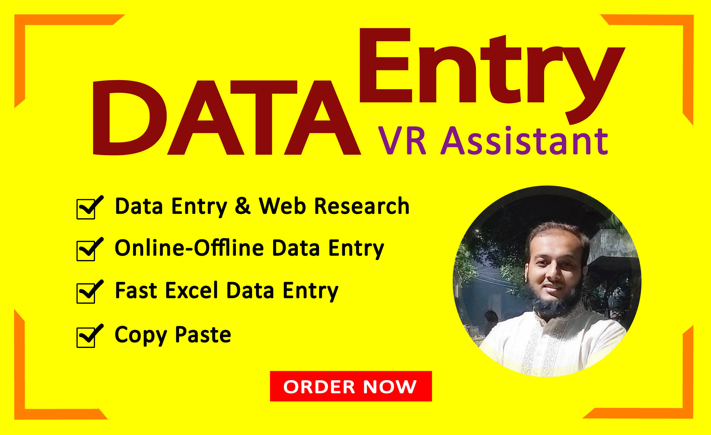 I will be a virtual assistant for data entry, FiverrBox