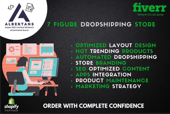 I will build a branded highly converting shopify dropshipping store, FiverrBox