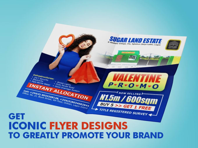 I will create a stunning flyer design for print to grow your, FiverrBox