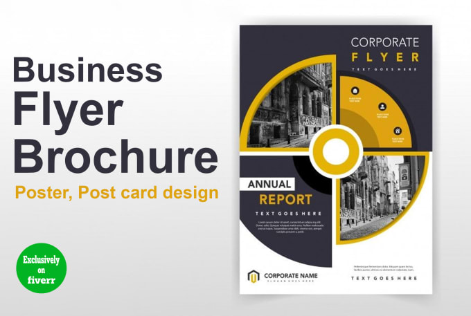 I will design a professional flyer or brochure for your business, FiverrBox
