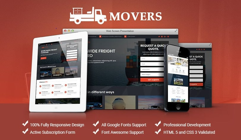 I will design, contrive and host your logistics landing page, FiverrBox