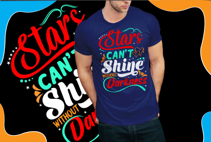 I will create an eye catching and typography t shirt design, FiverrBox