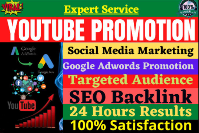 I will do you tube promotion for super growth, yt grow channel,, FiverrBox