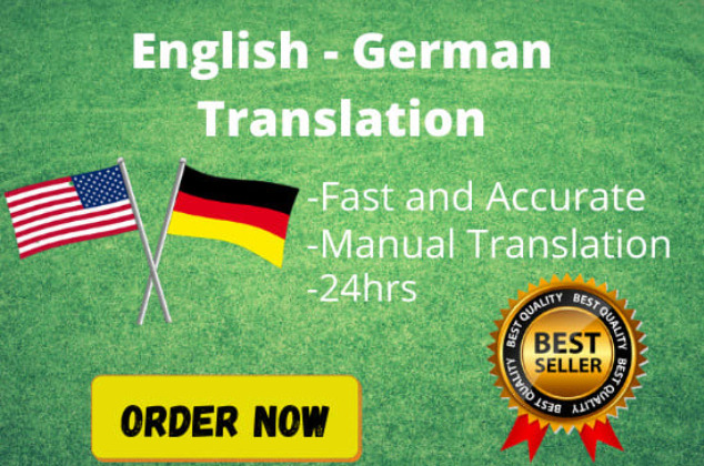I will professionally translate english to german or german to english, FiverrBox