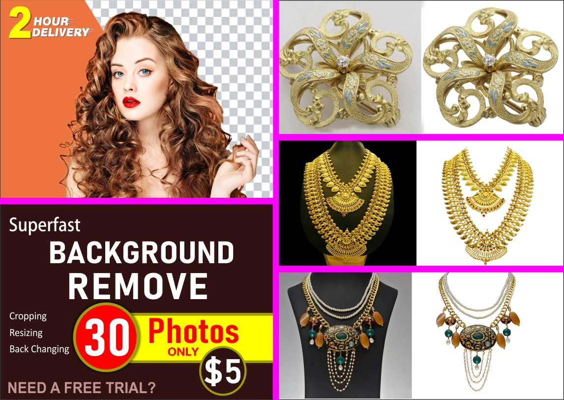 I will do photo 80 background removal and clipping path and resize, FiverrBox