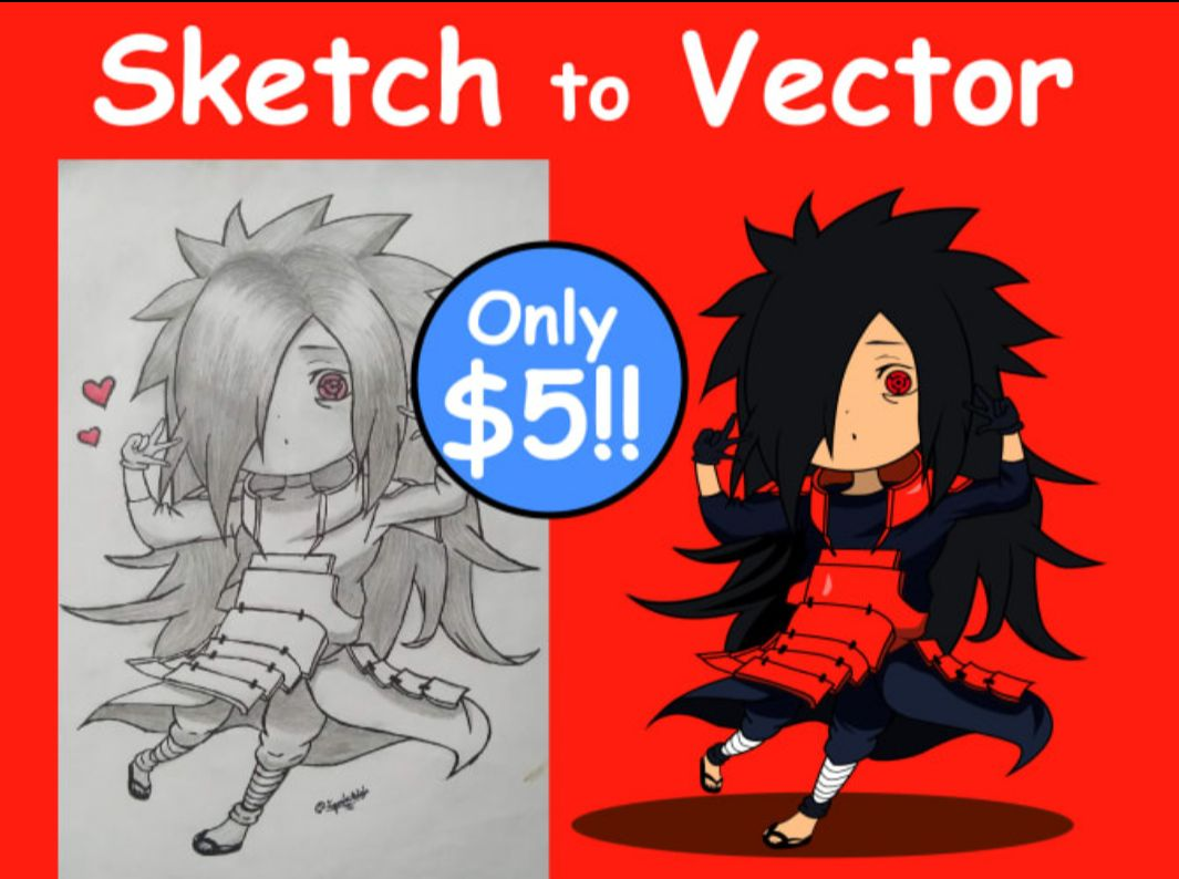 I will convert sketch to vector, drawing into vector, FiverrBox