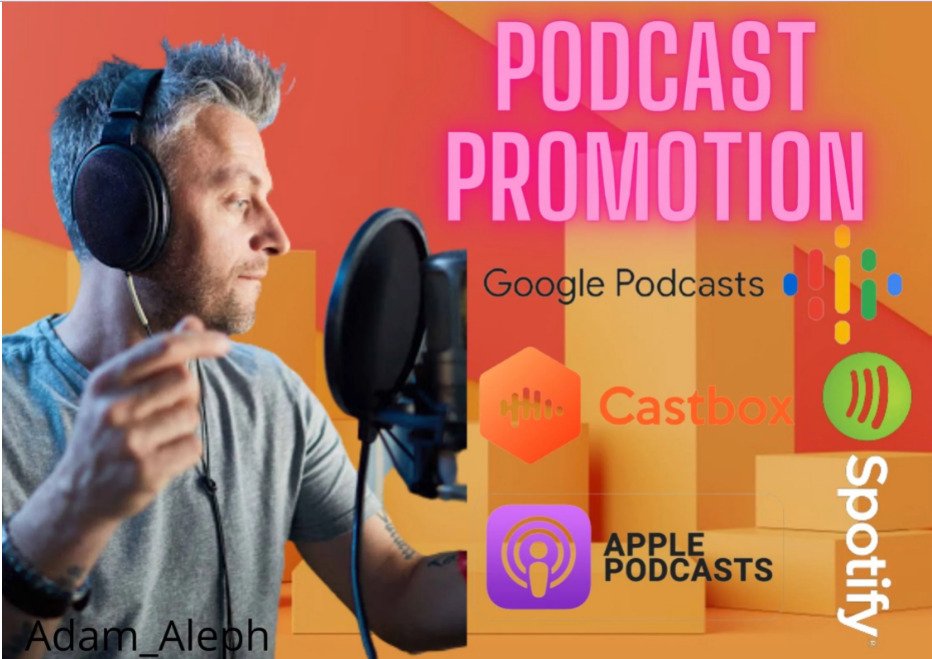 I will promote your apple spotify google and caster podcast to reach 50k people, FiverrBox