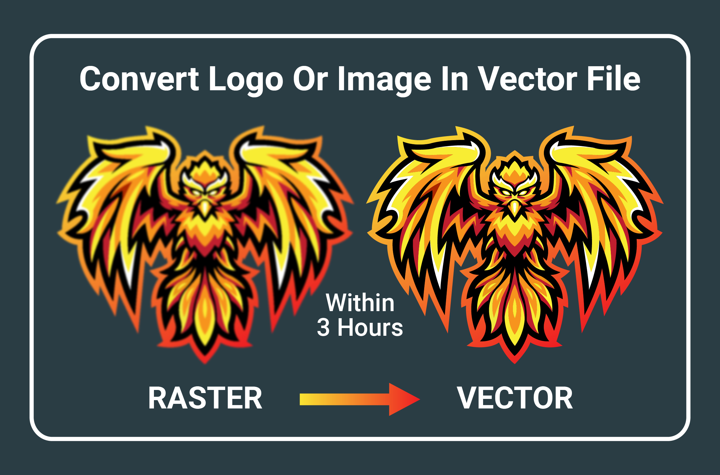 I will recreate logo or image to vector within 3 hours, FiverrBox