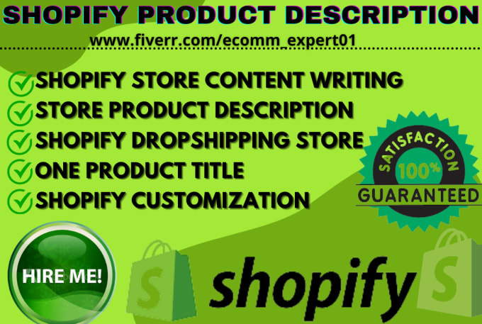 I will write and edit your shopify product title and desription, FiverrBox