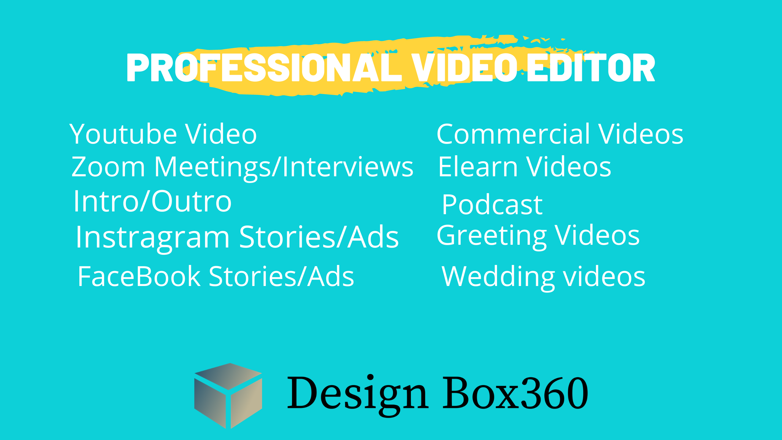 I will do professional video editing, FiverrBox