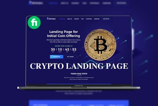 I will create crypto landing page and website, FiverrBox