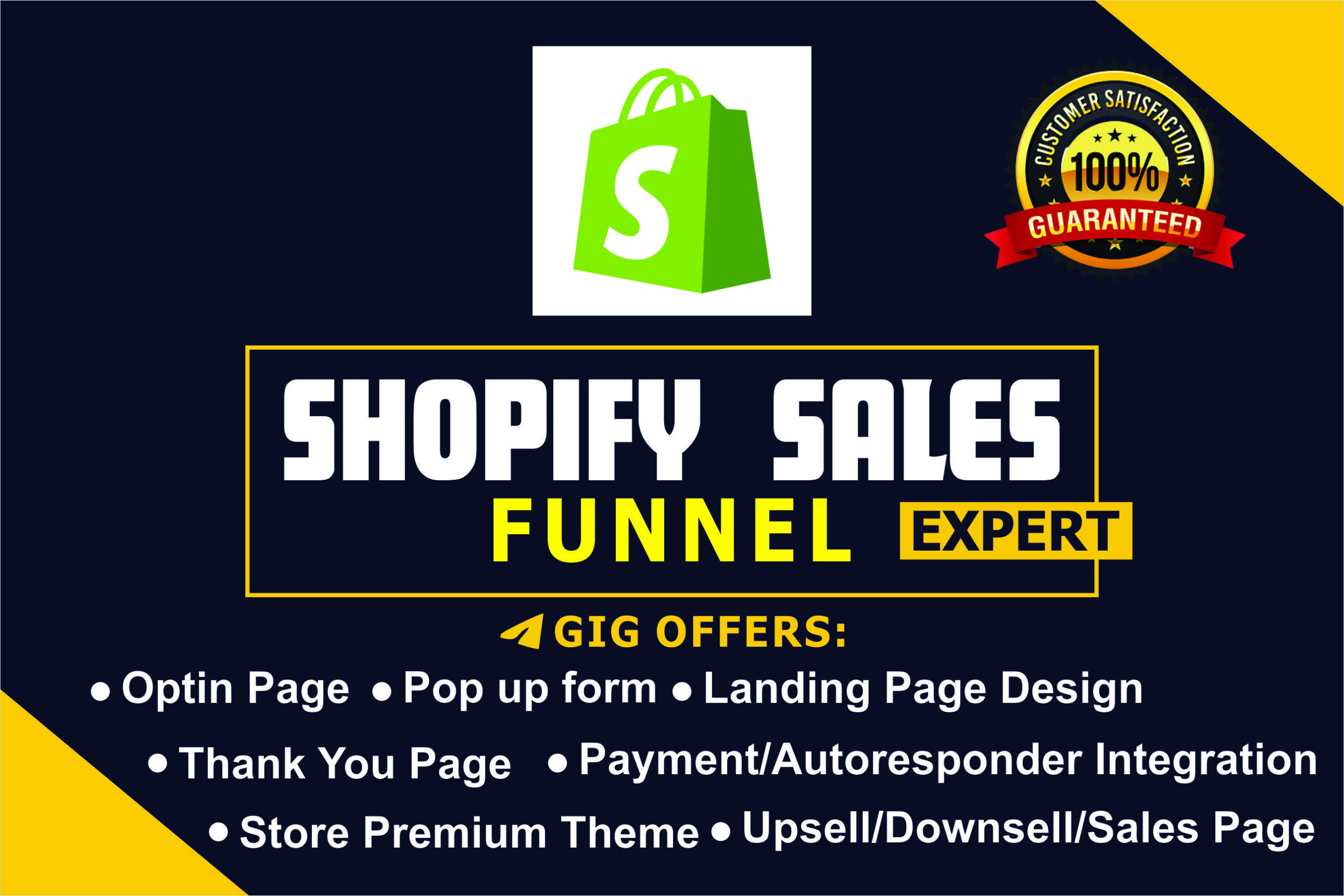 I will build sales funnel, shopify website, design shopify store, shopify sales, FiverrBox