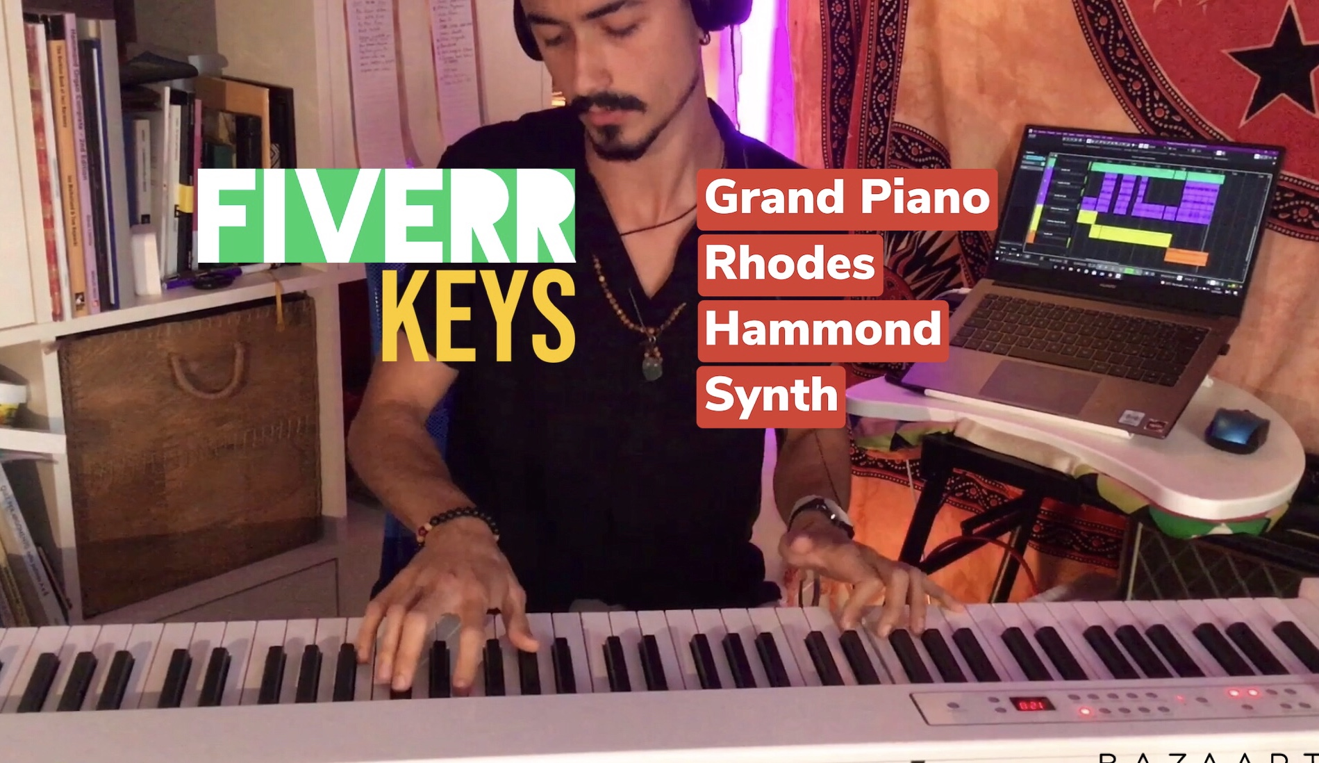 I will record keys for your song, FiverrBox