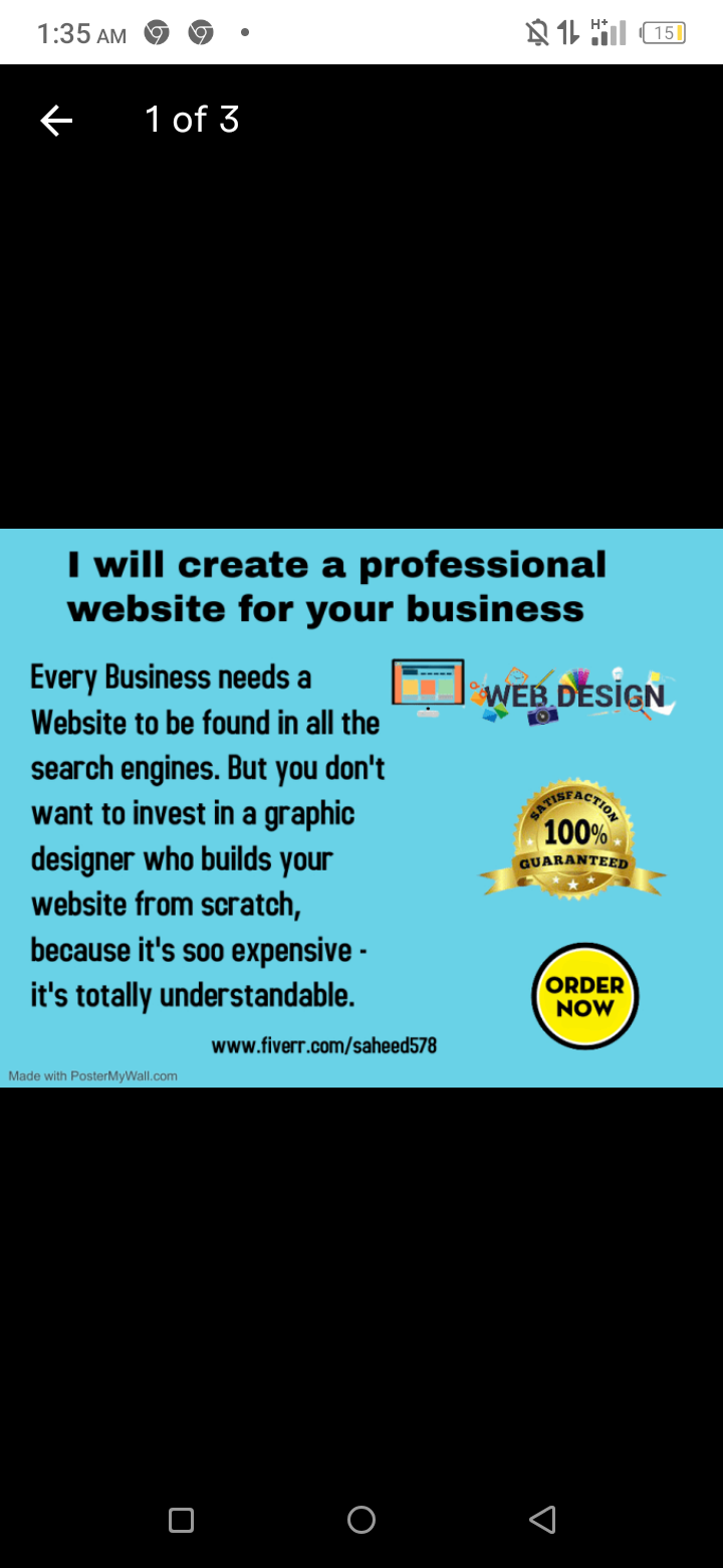 I will create a professional website for your business, FiverrBox