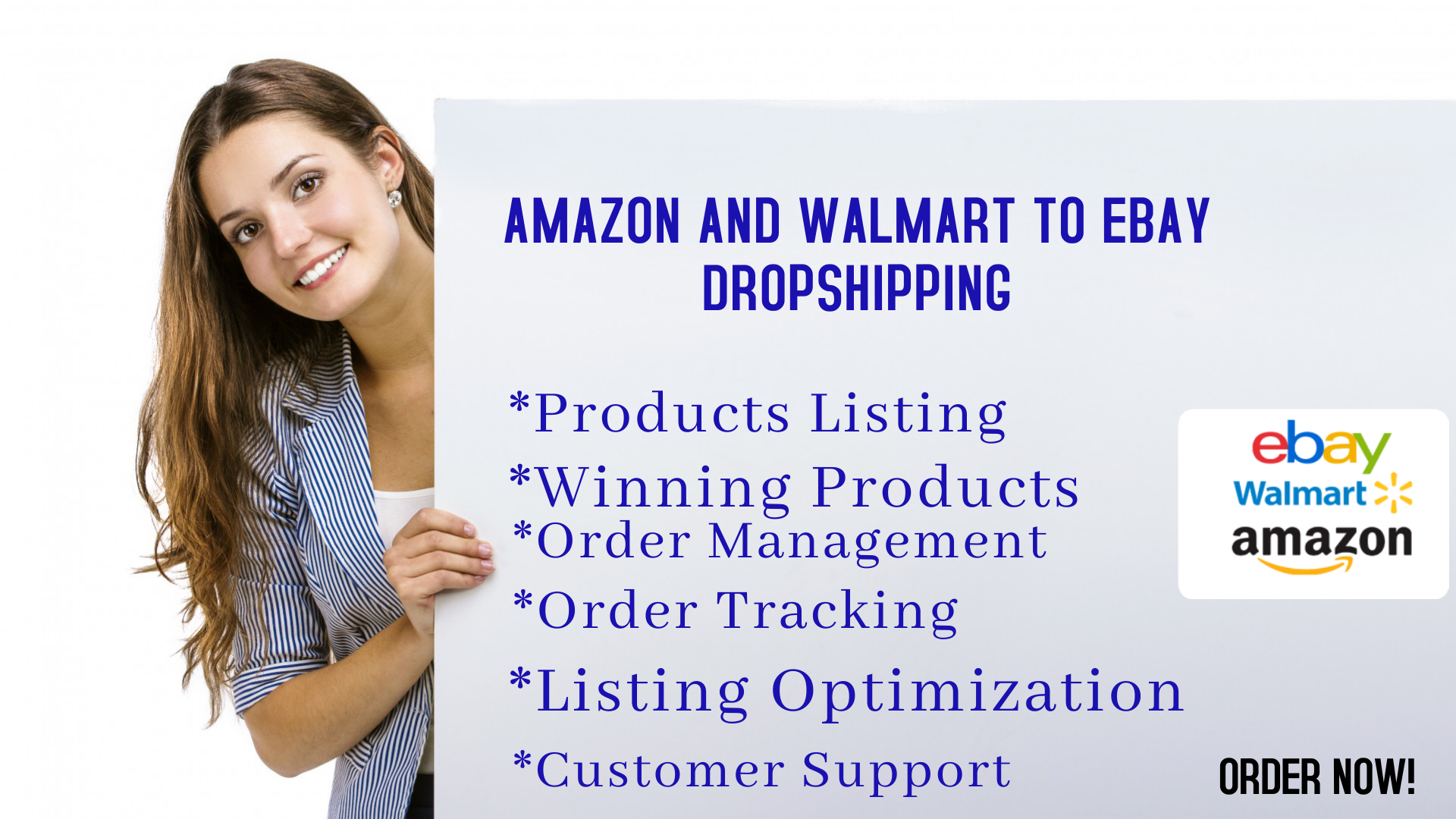 I will do amazon and walmart to ebay dropshipping, FiverrBox