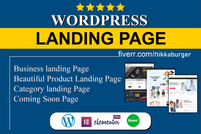 I will Create a beautiful landing page Design, FiverrBox