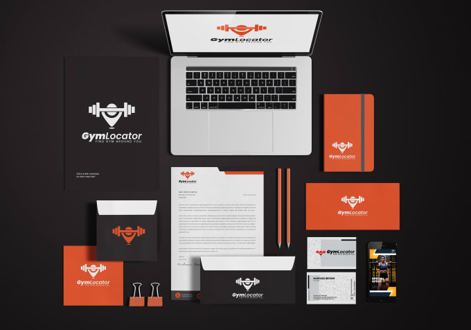 I will design your company logo with brand style guides, FiverrBox