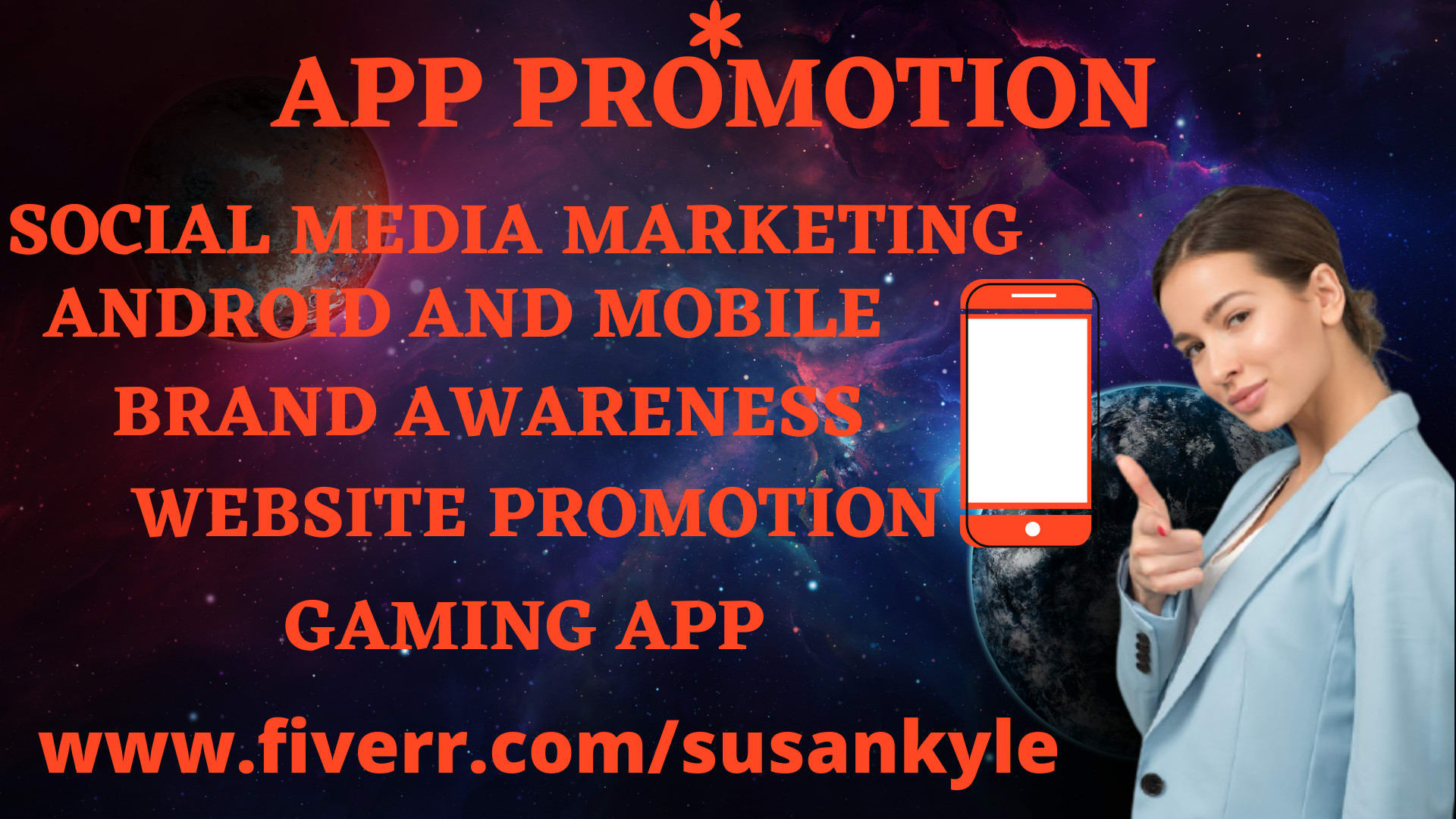I will do android app mobile marketing on any website promotion, FiverrBox