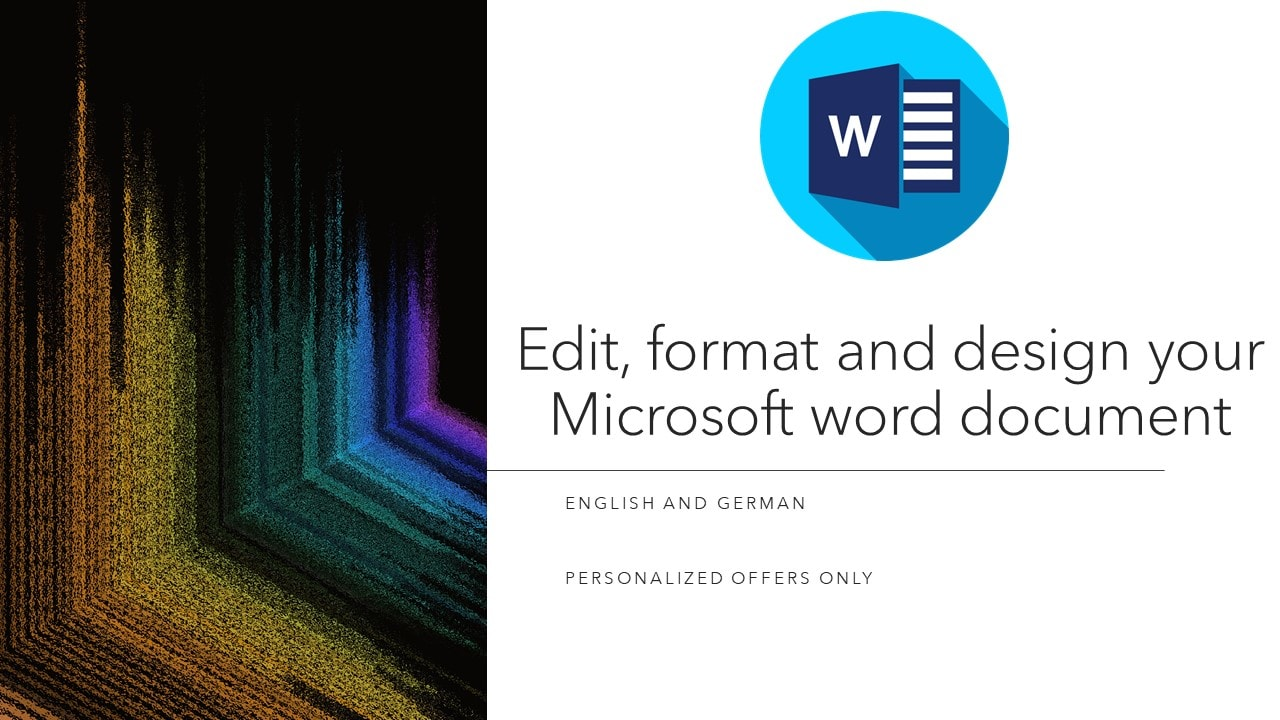 I will edit, format and design your microsoft word document, FiverrBox