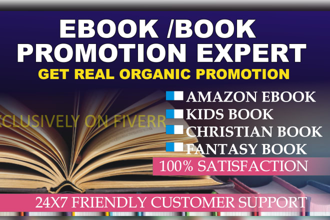 I will do viral ebook or kindle book promotion on social networks, FiverrBox