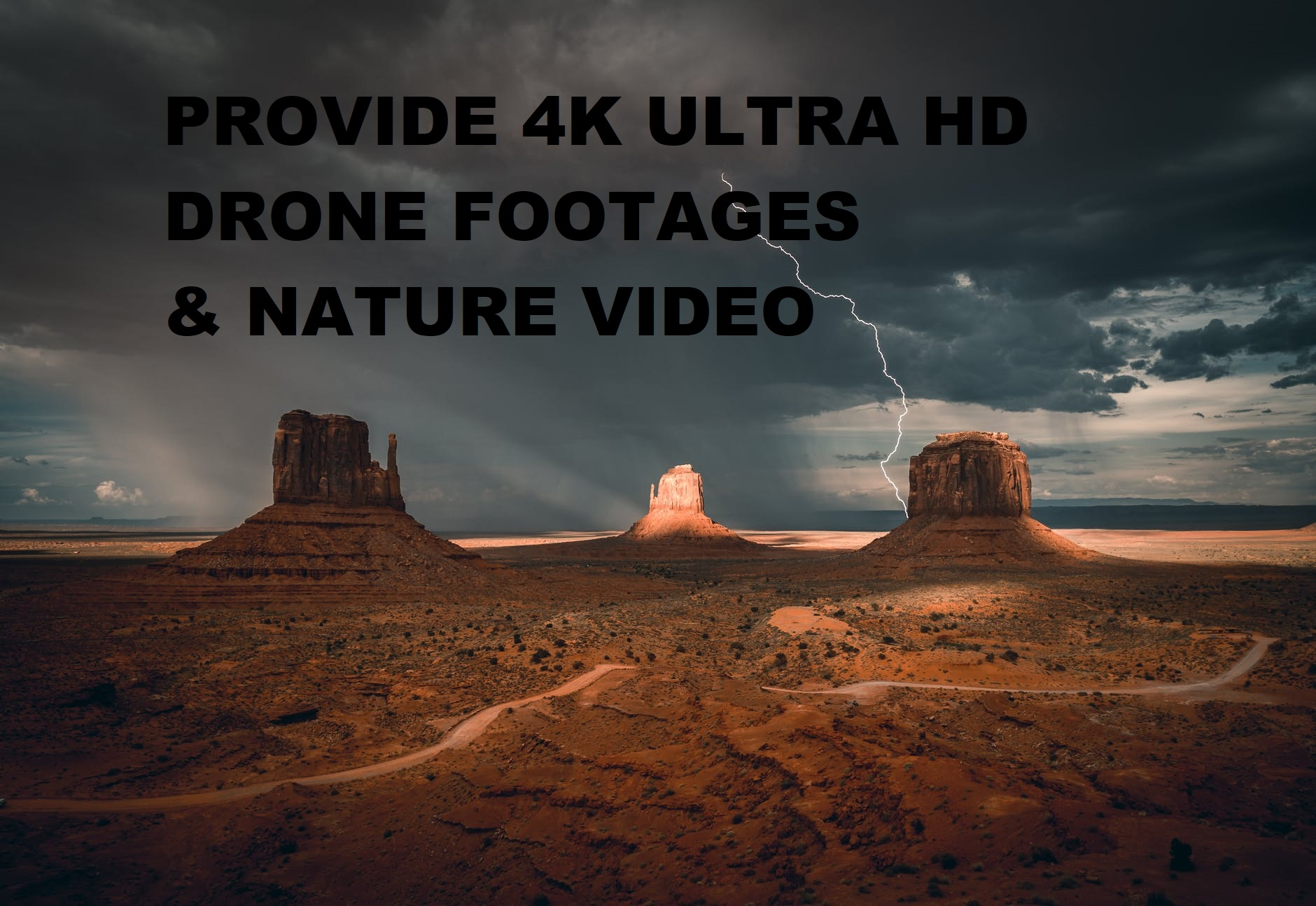 I will provide 300 VIDEO footage with 4k resolution, FiverrBox